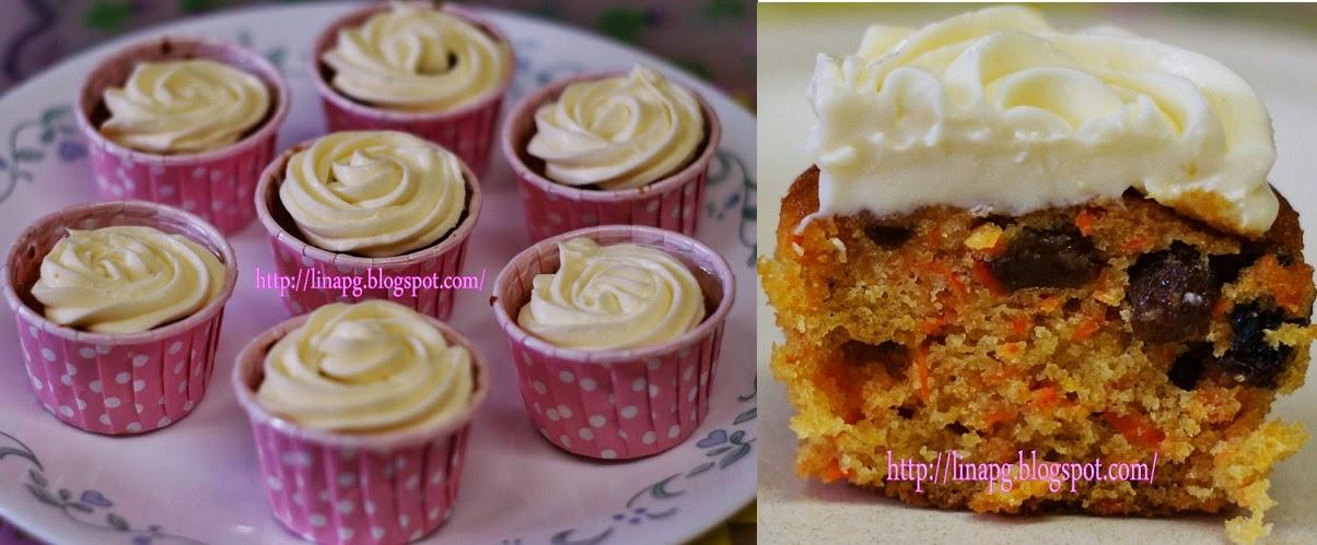 Tempahan Carrot Cupcakes (Min Order 16pcs-M size)