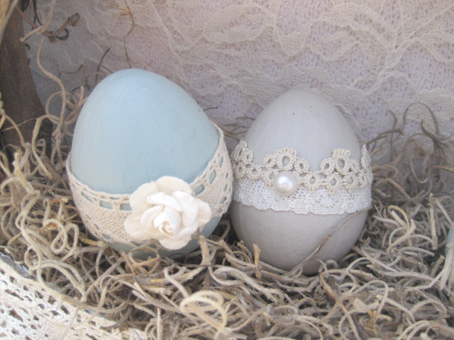 Handmade Easter Eggs & DIY Wreath