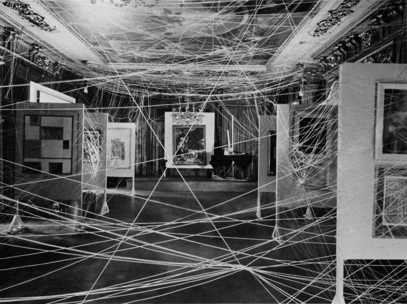 Installation of Duchamp's &quot;First Papers of Surrealism&quot;
