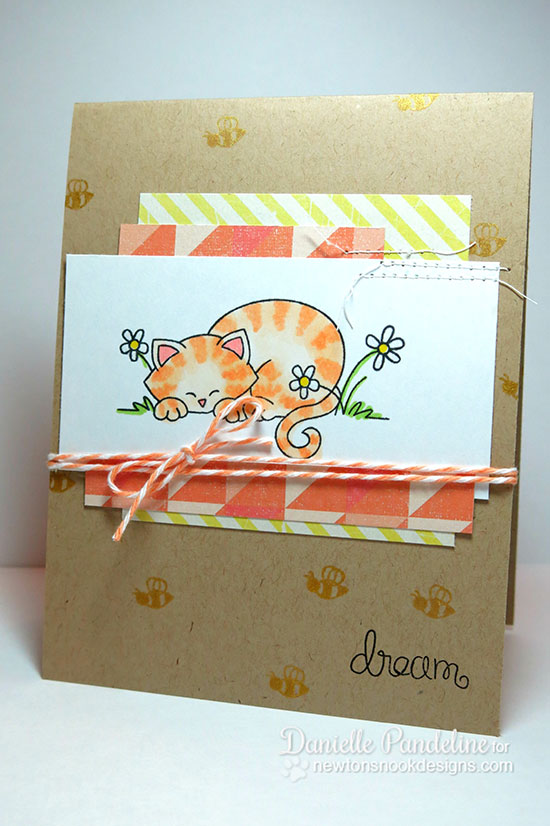 Dreaming Kitty card by Danielle Pandeline for Newton's Nook Designs - Newton's Daydream Cat stamp set