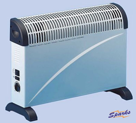 2kW Convector Heater with 3 heating options