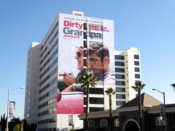 Giant Dirty Grandpa movie billboard