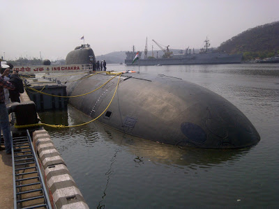 FIRST LOOK: INS Chakra Inducted At Visakhapatnam