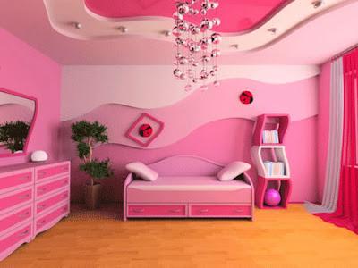 Model kamar tidur Perempuan indah