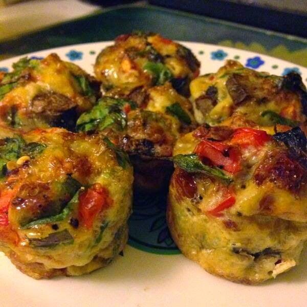 Clean eating breakfast recipes - egg & veg muffins