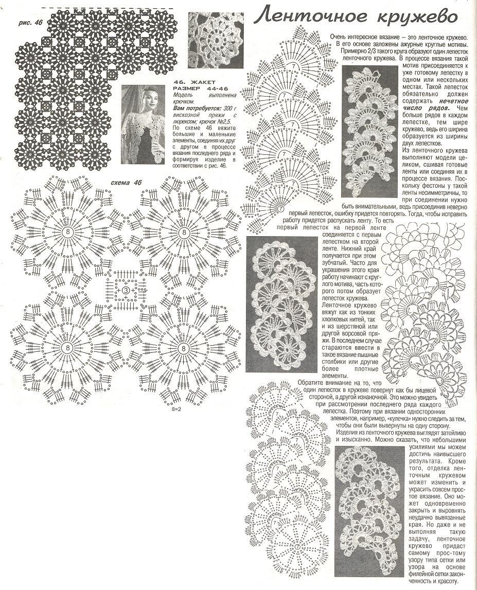 Журнал мод схемы жакет