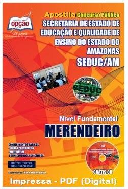 Apostila para MERENDEIRO Concurso SEDUC DO AMAZONAS