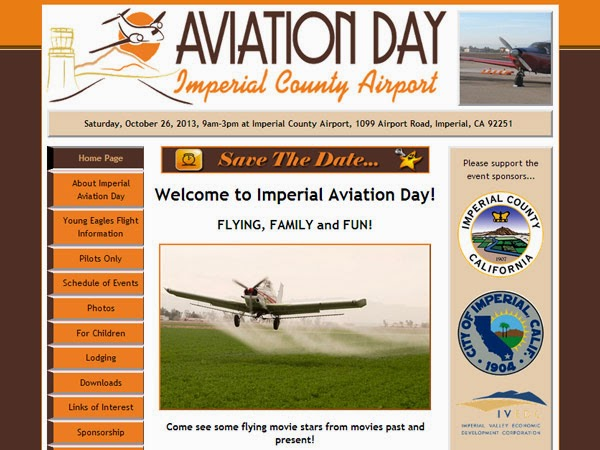Imperial Aviation Day website example