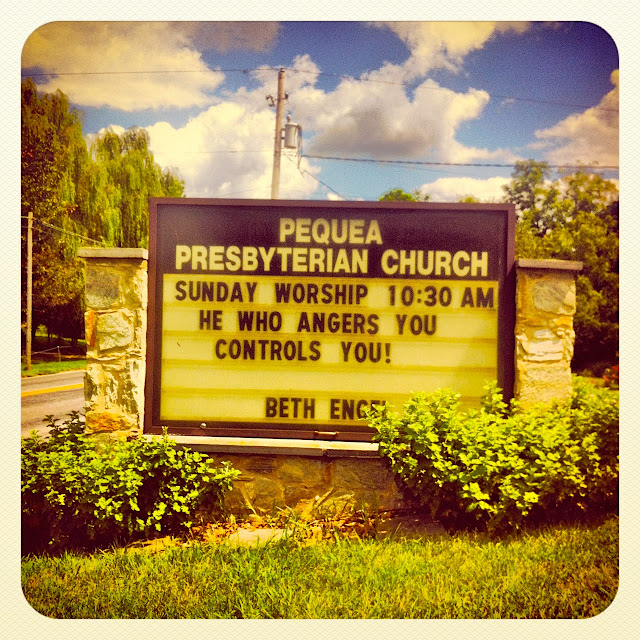 church marquee