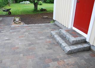 Garageuppfart sten eller asfalt