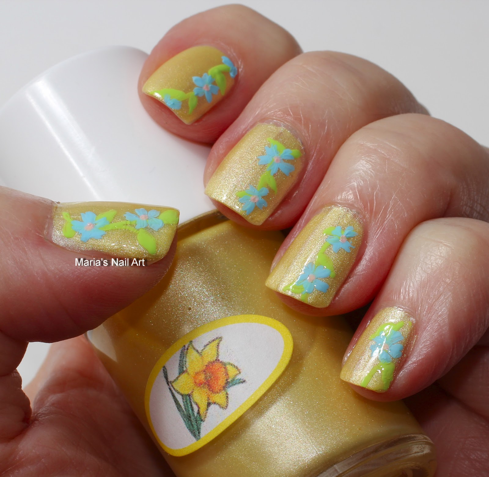 Marias Nail Art And Polish Blog Subtle Floral Nail Art On: Marias Nail Art And Polish Blog: Subtle Pastel Flowers On
