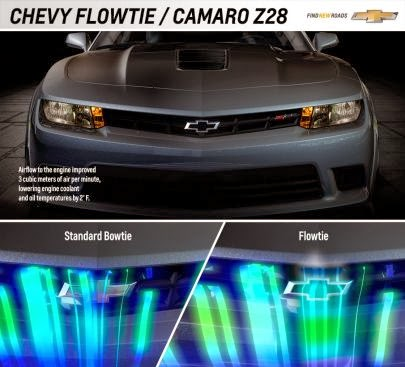2014 Chevrolet Camaro Z/28 Says Goodbye Bowtie and Hello Flowtie!