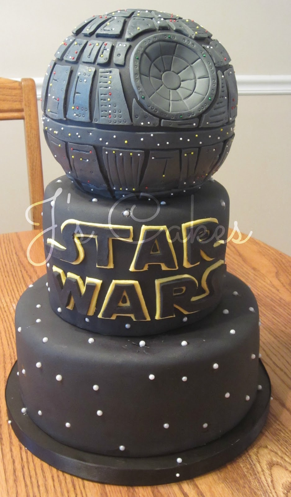 J 39 s cakes star wars death star cake - Star wars birthday cake decorations ...
