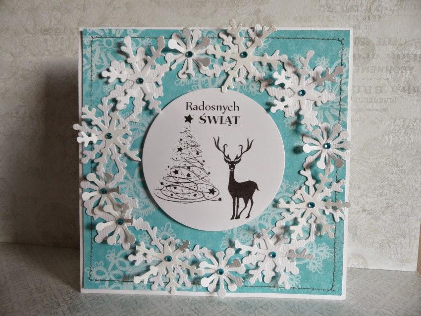 kartki ręcznie robione Boże Narodzenie