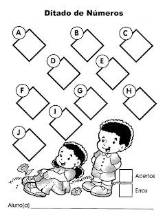 ditado de matemática
