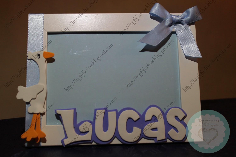Marco de fotos bebé- Lucas Top Fofuchas - Fofuchas personalizadas