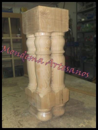 Artesanos carpinteros patas de madera torneadas - Patas torneadas de madera ...