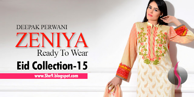 Zeniya Ready To Wear Eid Collection 2015 by Deepak Perwani