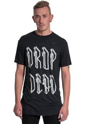 T Shirt Dropdead Sablon Black