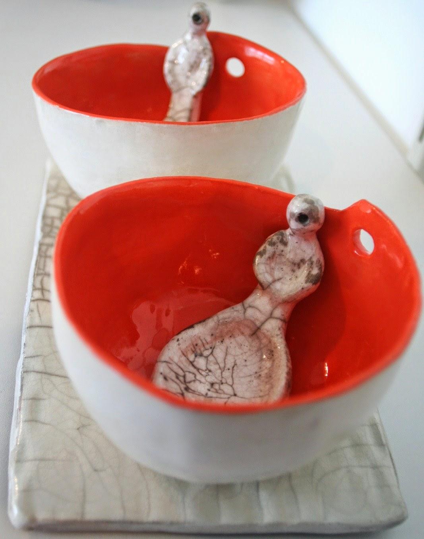 bols porcelaine et cuilleres