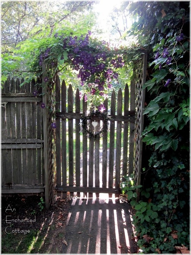 An enchanted cottage i heart my garden gates