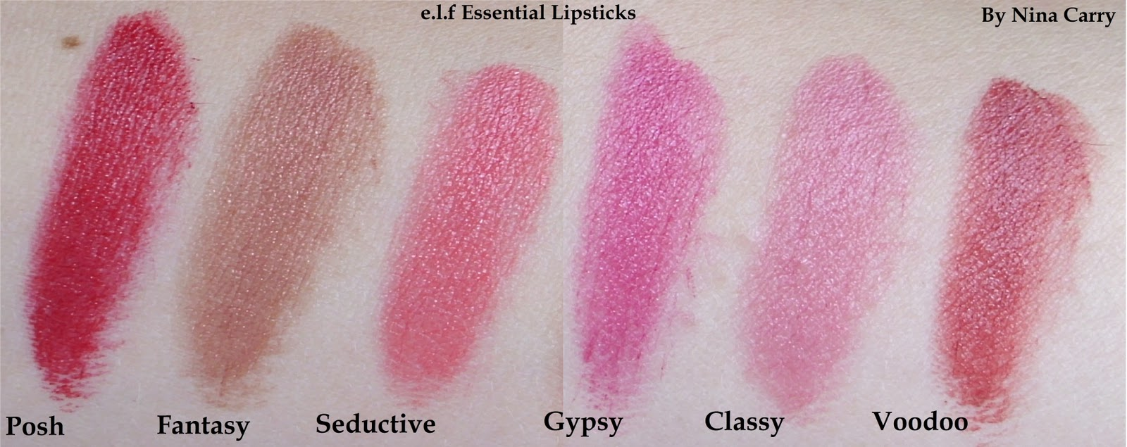 Nina's Bargain Beauty*: e.l.f Essential Lipsticks Review