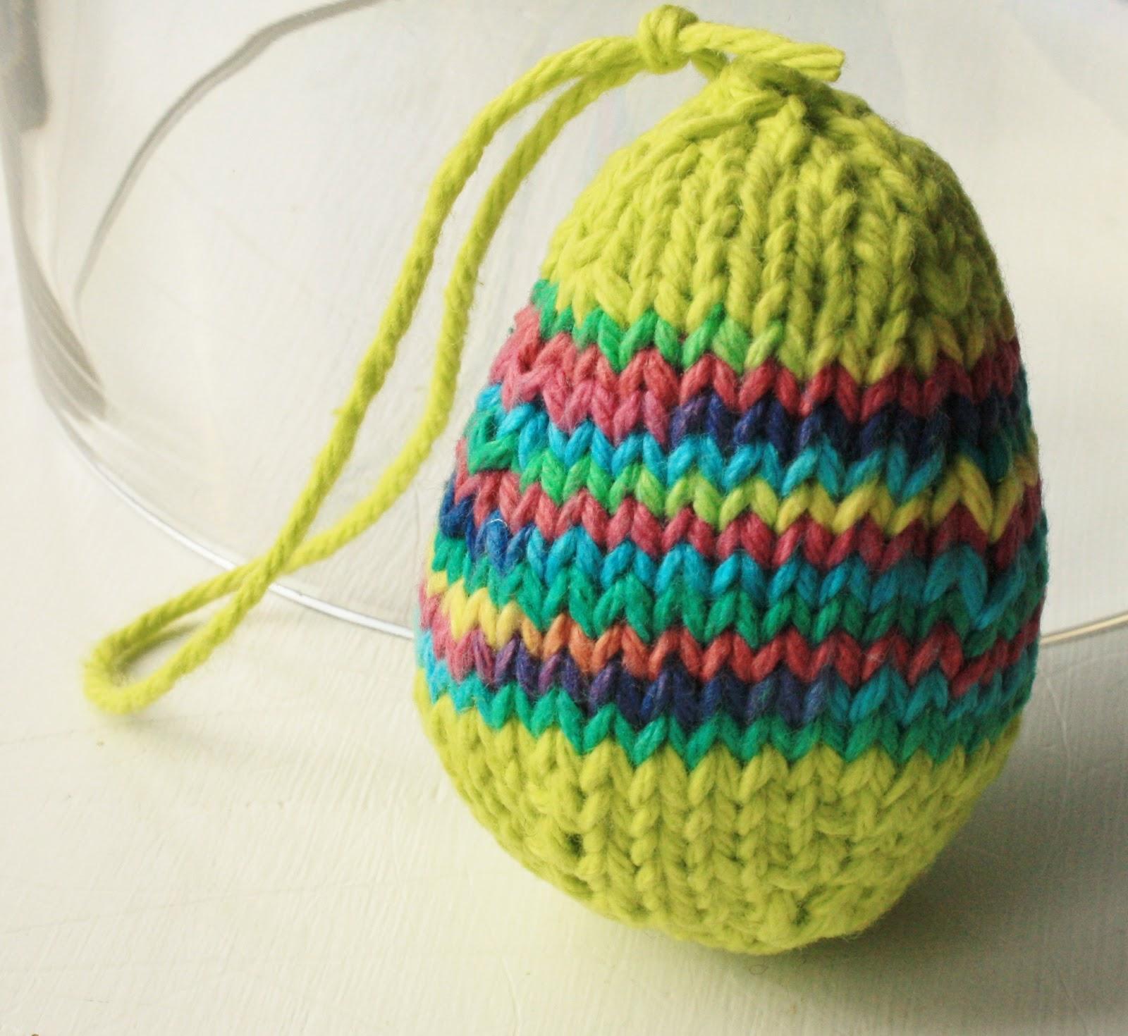 Knitting Easter Eggs : September violets knitted easter eggs