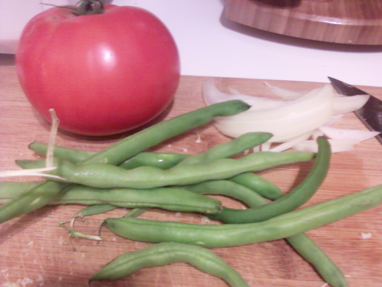 how to cook canned green beans in a skillet