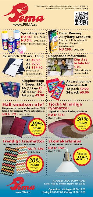 Pemas reklamutskick ta del av erbjudandena i butiken i Korsholm - Hörby, en del av erbjudandena gäller även på hemsidan www.PEMA.cc