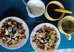 chickpea chaat for breakfast or for a meal  ..