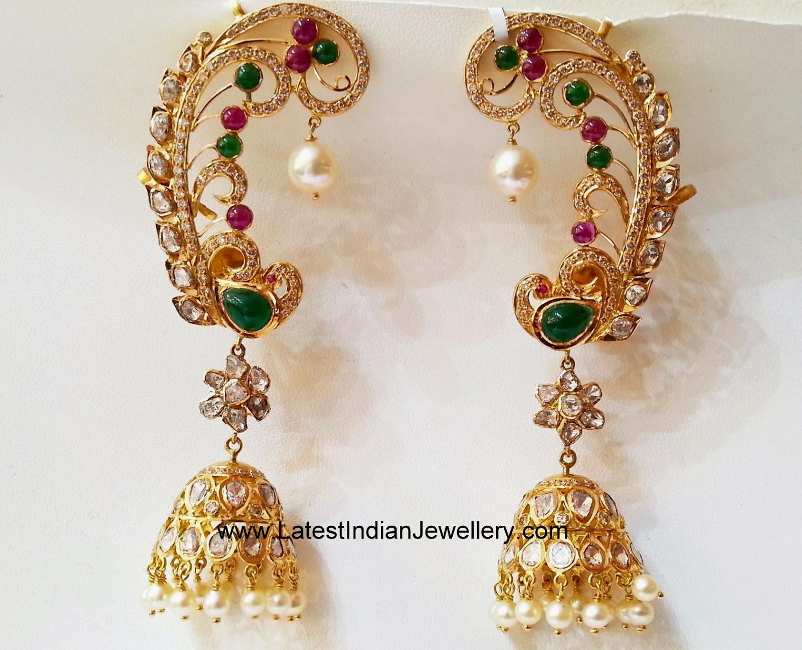 Peacock Design All Over Earrings