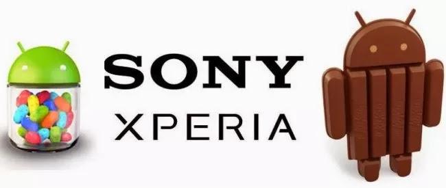 Android 4.3 JB y 4.4 Kit Kat para los Sony Xperia