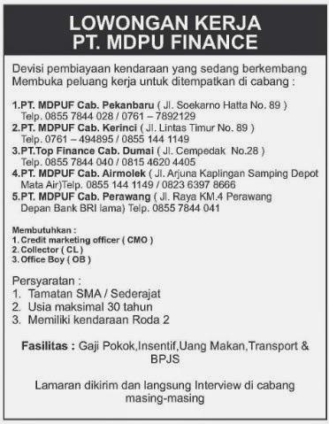Lowongan PT. MDP FINANCE