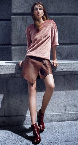 Moda de invierno H&M falda