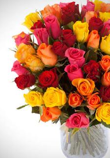 Un bouquet de 60 roses de la couleur de votre choix livré partout en France à 25€ bon plan fleur