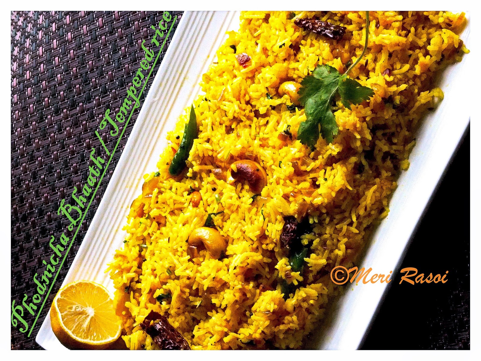 Meri rasoi phodnicha bhaath tempered rice a maharashtrian rice dish i grew up in mumbai the capital city of indian state maharashtra i have a special liking for the maharashtrian cuisine which is very flavorful forumfinder Image collections