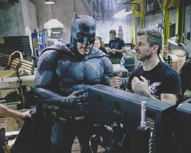 Ben Affleck y Zack Snyder en el rodaje Batman V Superman