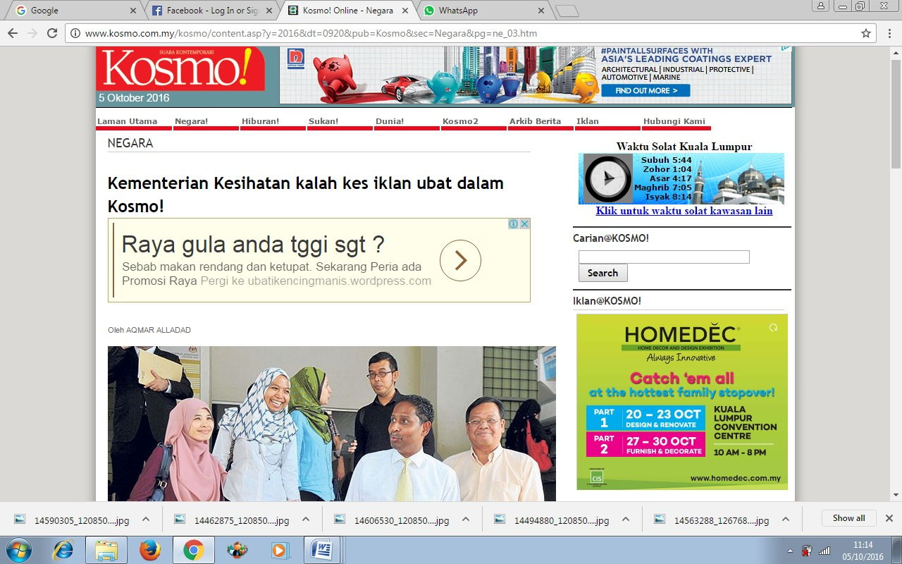 Loses Suit Against KOSMO.