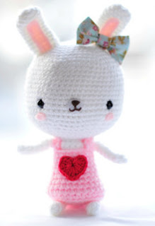 ... Amigurumi Patterns: Sweetheart bunny: cute bunny doll crochet pattern