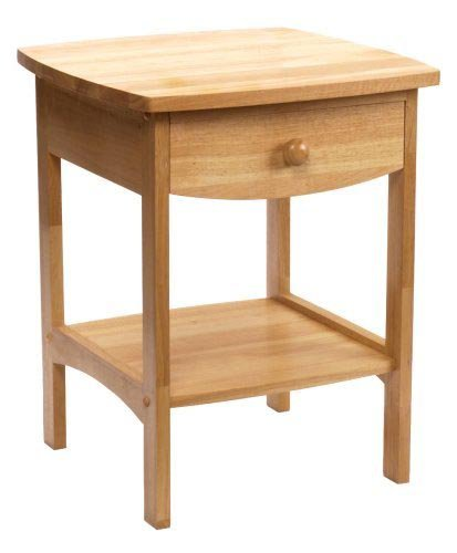 Family love home night table for Light wood side table