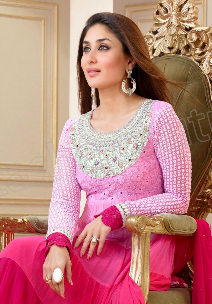 KareenaKapoorSemiGeorgetteSalwarSuits2014 15 wwwfashionhuntworldblogspotcom 003 - Kareena Kapoor Semi Georgette Salwar Suits 2014-2015