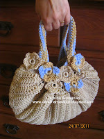 bolso tejido crochet, fat bag