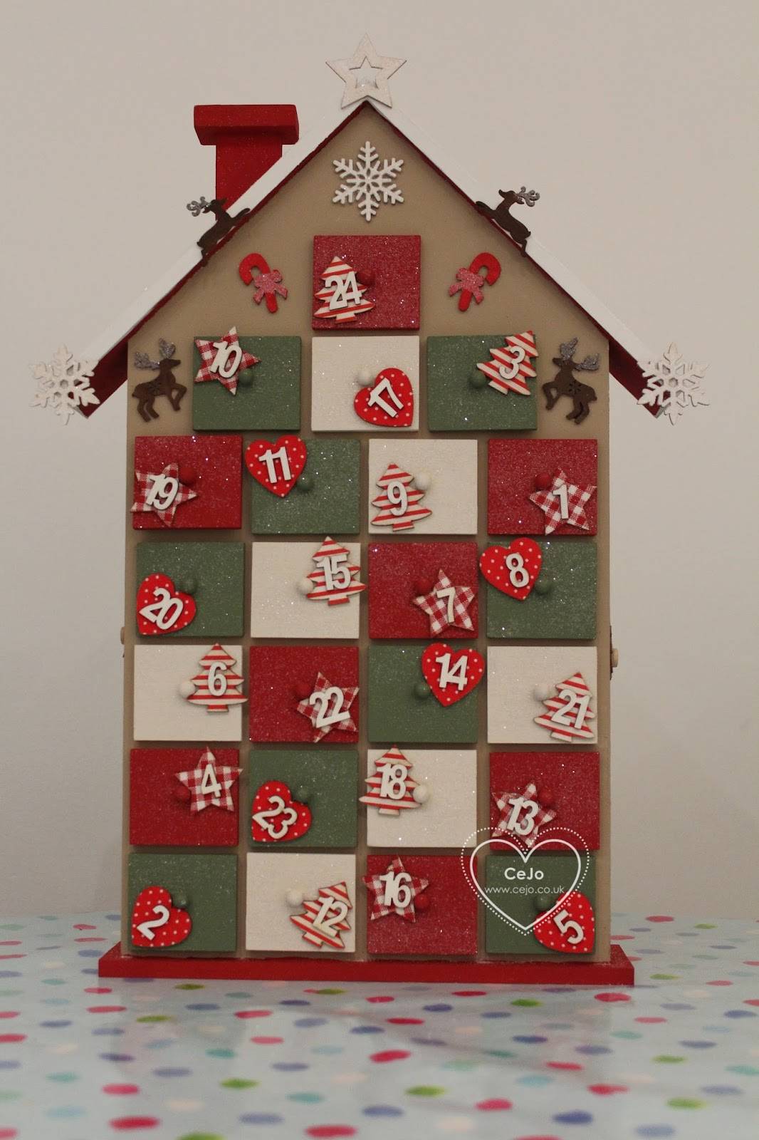 Advent Calendar House Diy : Things christmas diy advent calendar house cejo