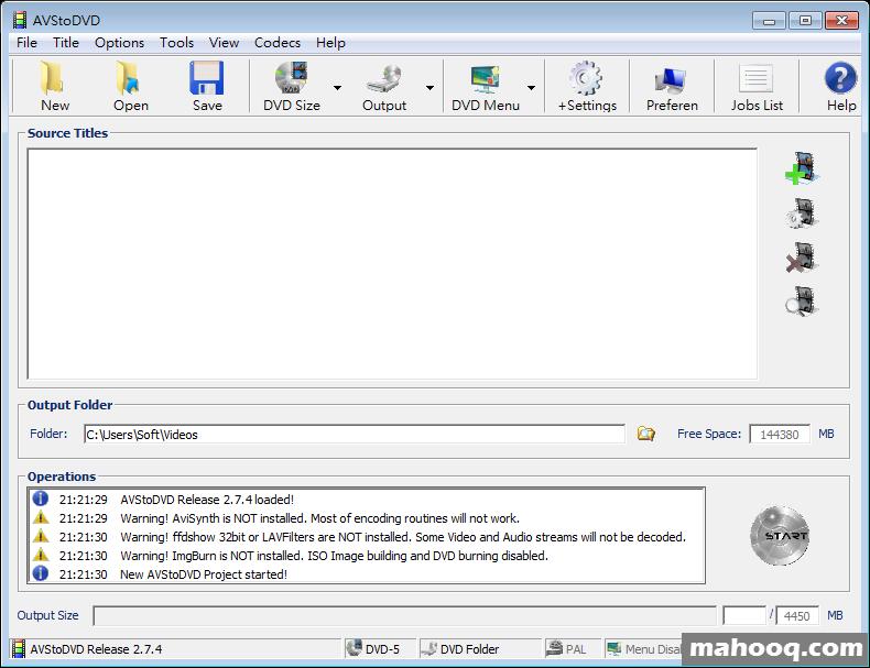 免費AVI轉DVD軟體下載推薦:AVStoDVD Portable 免安裝版