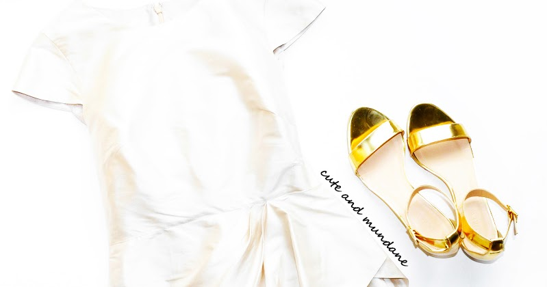 38b70b341416 Cute and Mundane  J.Crew Lillian mirror metallic low wedges in  metallic  gold  review + photos