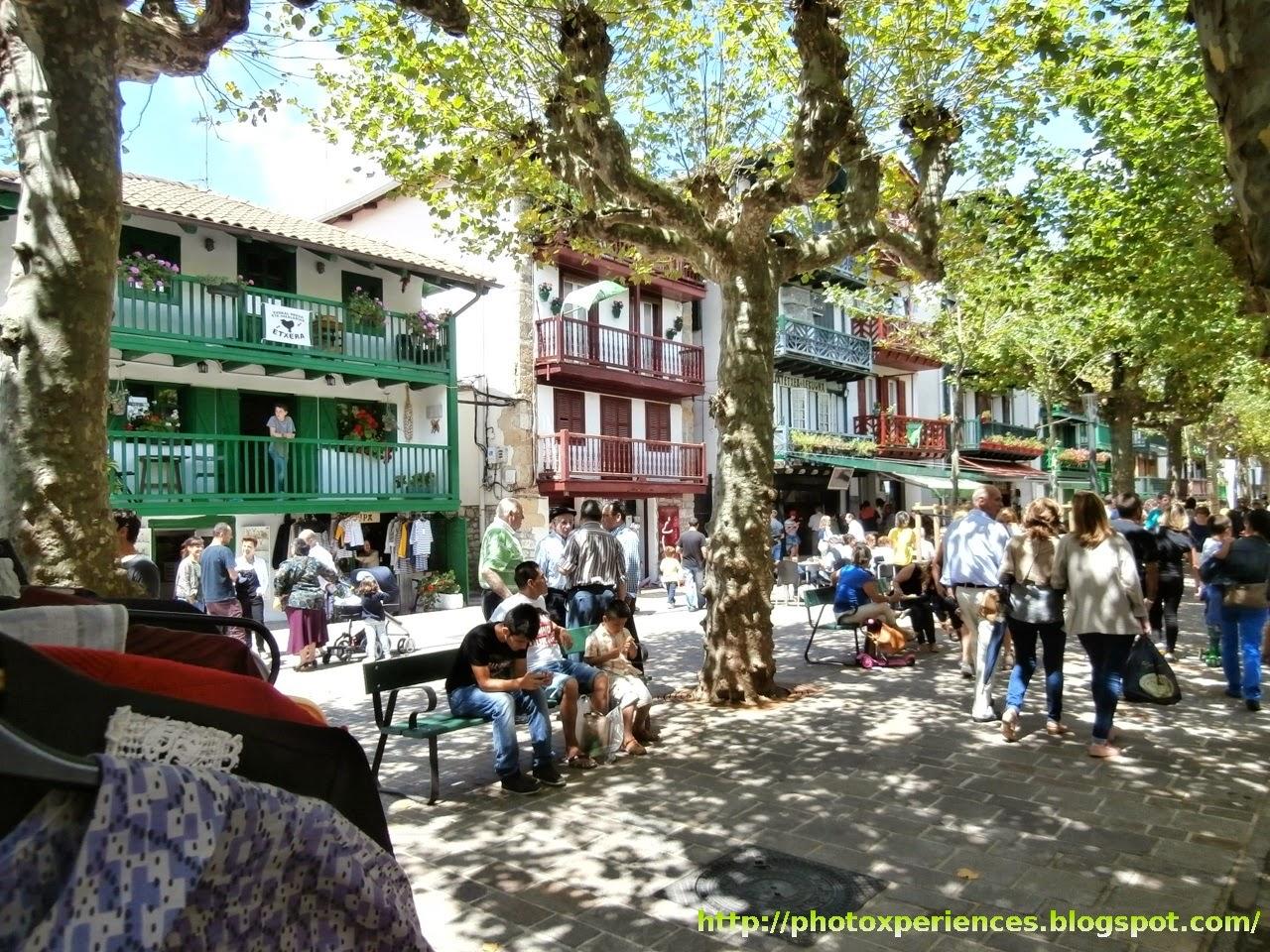 Casas típicas del Barrio de la Marina de Hondarribia - Fuenterrabía