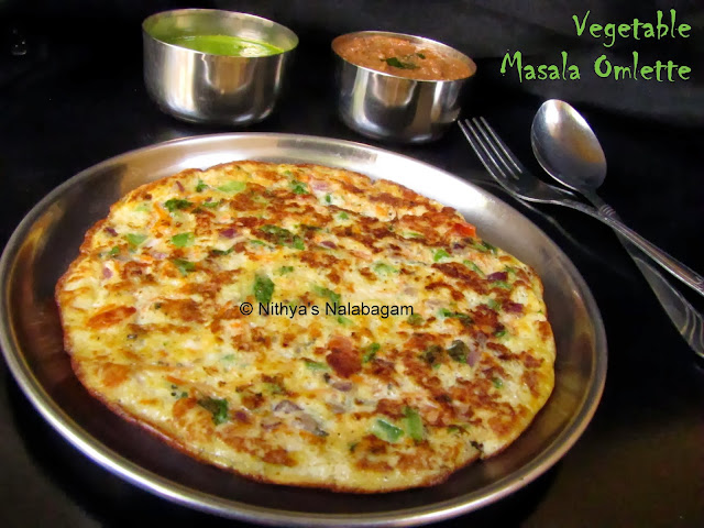 Vegetable Masala Omelette