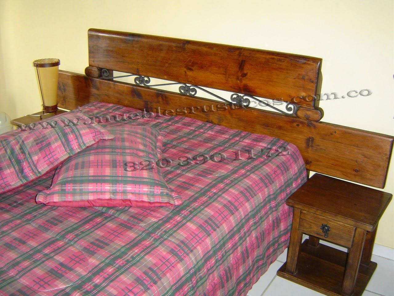 Muebles Rusticos Bogota Cama Madera Rustcica # Muebles Madera Bogota