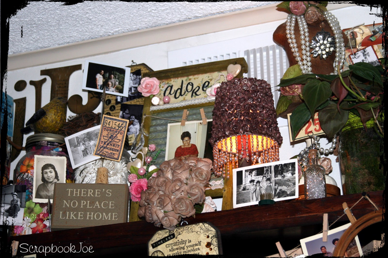 SCRAPBOOKJOE: New photos of my mini scrap studio