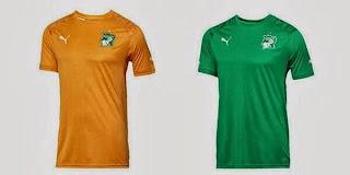 Le maillot de la Côte d'Ivoire de la Coupe du monde 2014